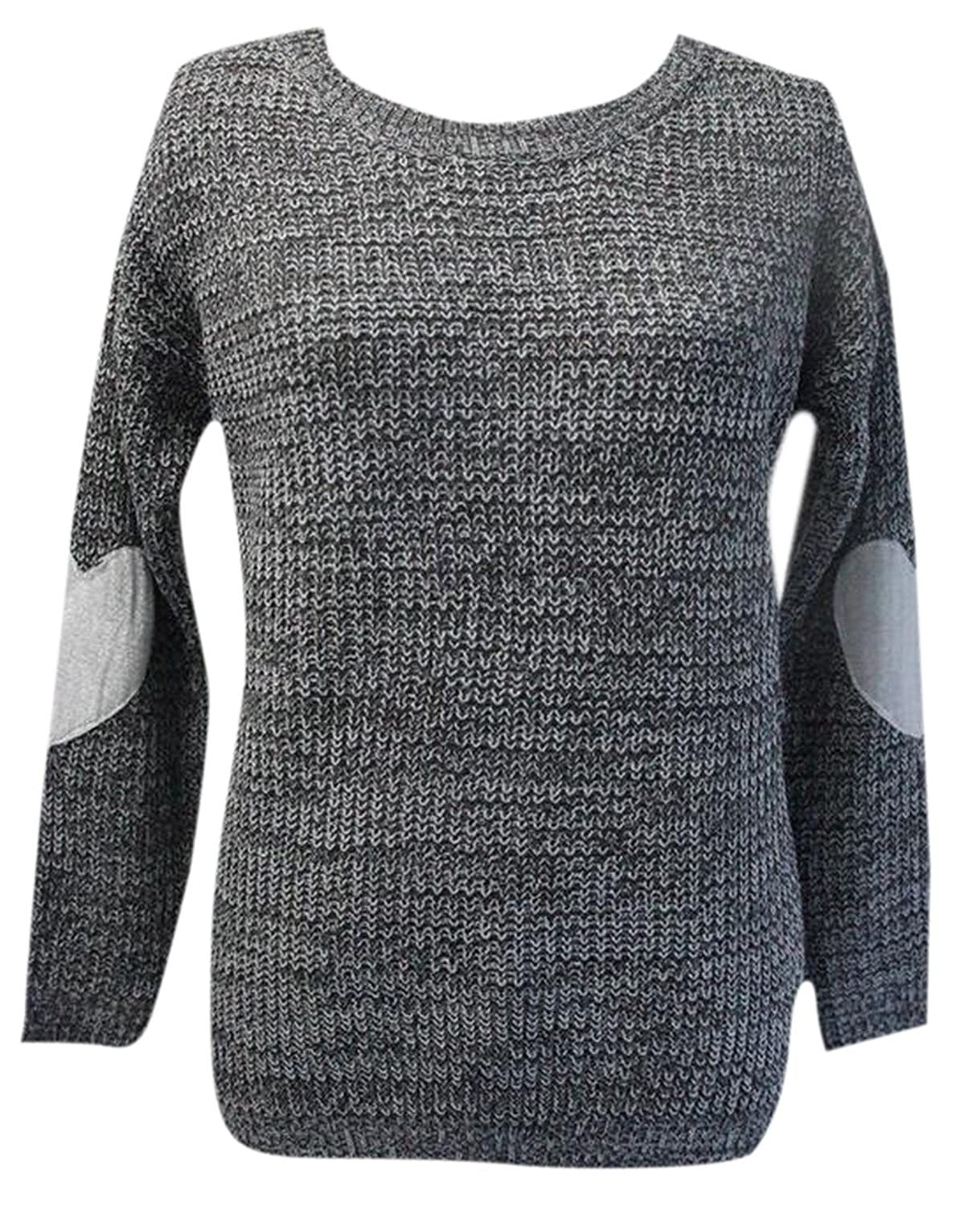 Vska Womens Loose Cozy Knitted Pullover Cable-Knit Sweater