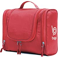 Bago Hanging Toiletry Bag For Men & Women - Toiletries Travel Organizer (Red)