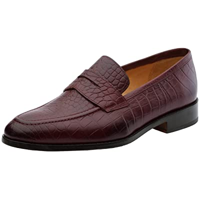 3DM Lifestyle Men's Handcrafted Genuine Leather Penny Slip-On Leather Lined Loafer ... | Loafers & Slip-Ons