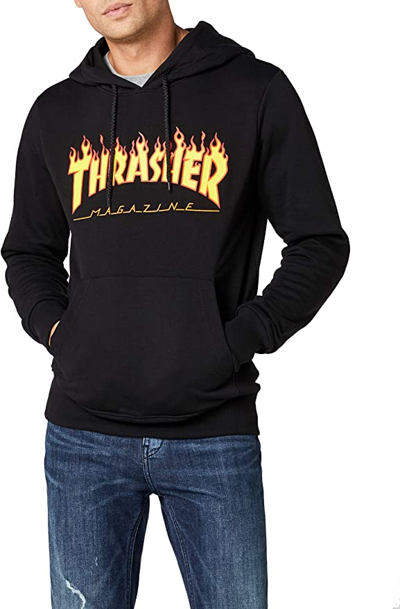 TALLA L. THRASHER Flame Logo - Camiseta Hombre