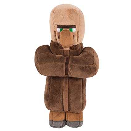 Amazon Com Jinx Minecraft Villager Plush Stuffed Toy Multi Color