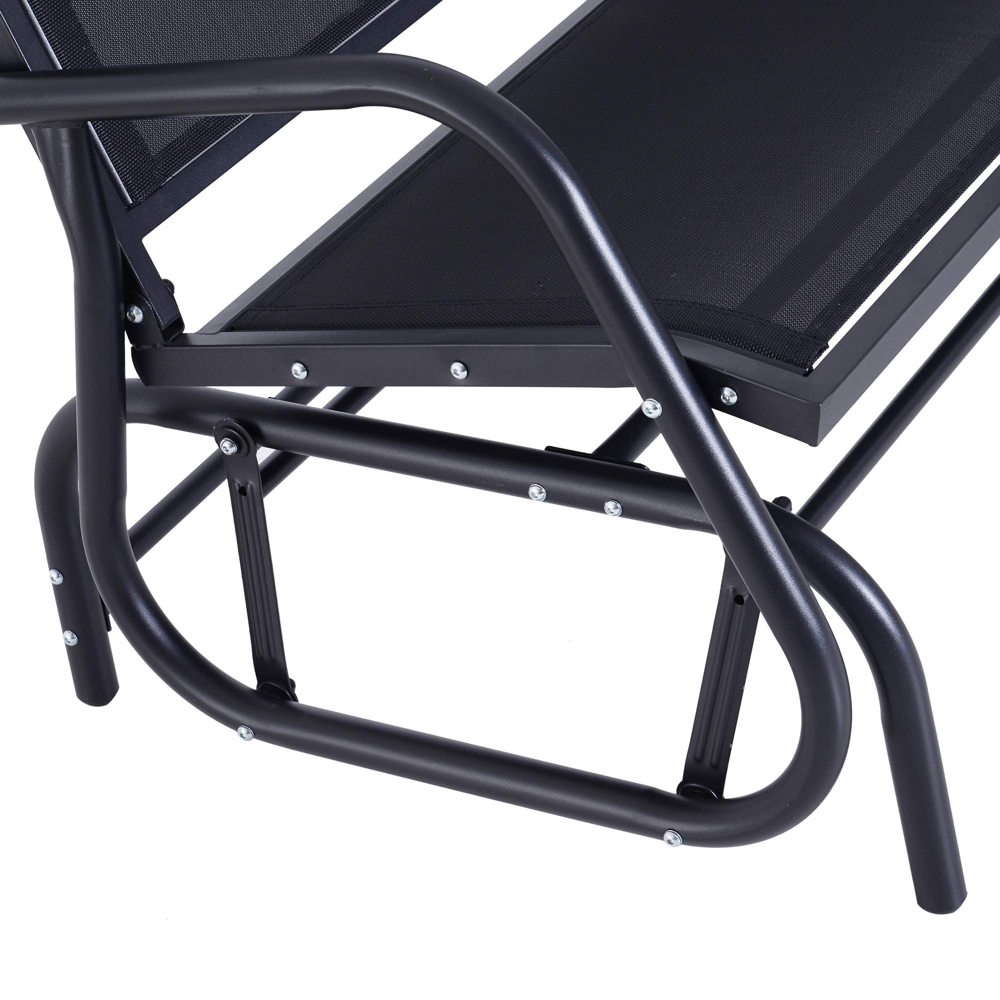 Outsunny 48'' Outdoor Patio Swing Glider Bench Chair - Dark Gray by Outsunny (Image #8)