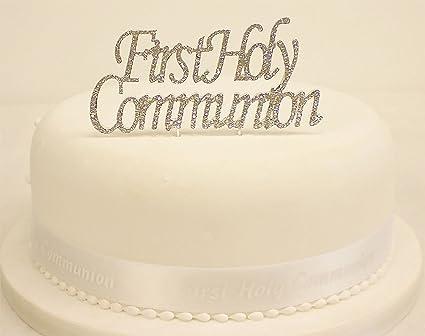 Amazon Com First Holy Communion Reusable Cake Topper Shiny