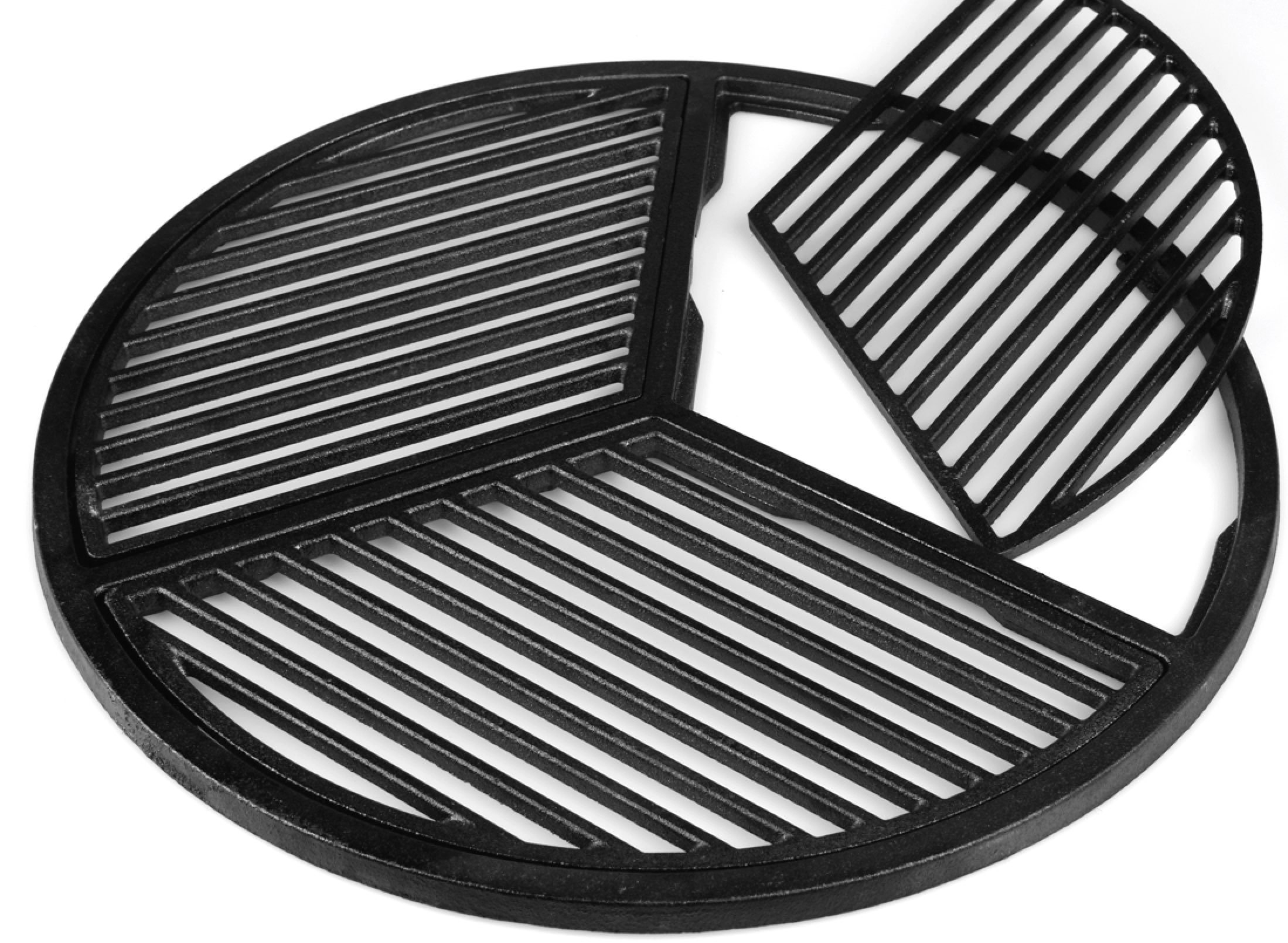 Cast Iron Grate, Pre Seasoned, Modular, Fits 18.5'' Grills and Large Big Green Eggs by Craycort