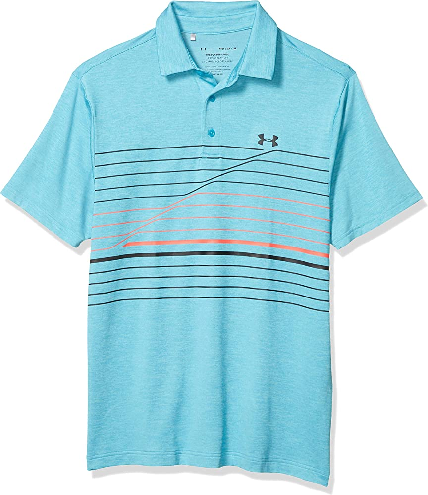 Under Armour Mens Playoff 2.0 Golf Polo, Escape (450)/Black, 3X ...