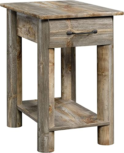 Sauder 424607 Boone Mountain Side Table, Rustic Cedar Finish
