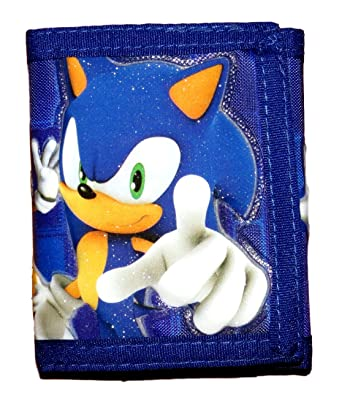 Sonic The Hedgehog Sonic Kids Wallet With Shadow Velcro Trifold Wallet