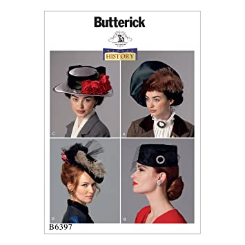 Butterick Patterns Schnittmuster Hüte, mehrfarbig: Amazon.de: Küche ...