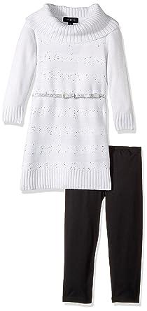 90584ae3202 Amazon.com  Amy Byer Girls  Big 3 4 Sleeve Sequin Stripe Cowl Set ...