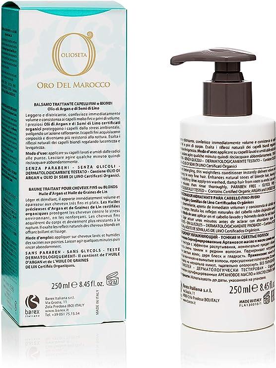 Bálsamo Aceite Seda Oro del Marruecos Bálsamo Tratamiento 250 ml