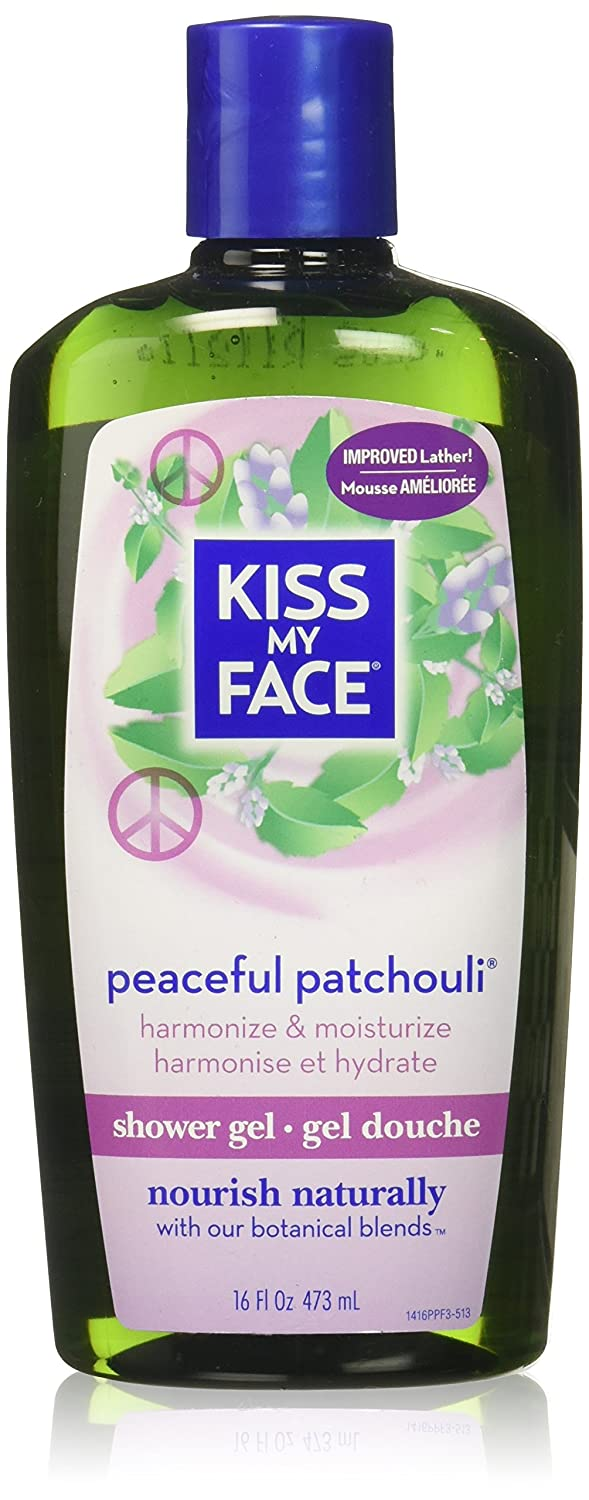 Kiss My Face: Bath & Shower Gel, Peaceful Patchouli 16 oz