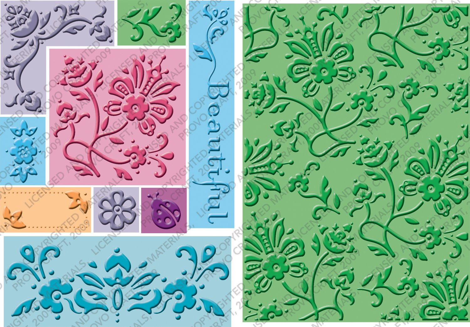 Cricut Cuttlebug All-in-One Beautiful Embossing Plates 2000286