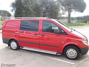 Extra LWB Mercedes Vito y Viano 2004 + aleación de aluminio Baca barras: Amazon.es: Coche y moto