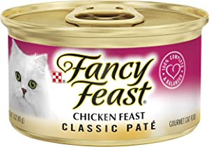 30 Cans of Purina Fancy Feast Classic Pate Chicken Feast Wet Cat Food - 3 oz.ea
