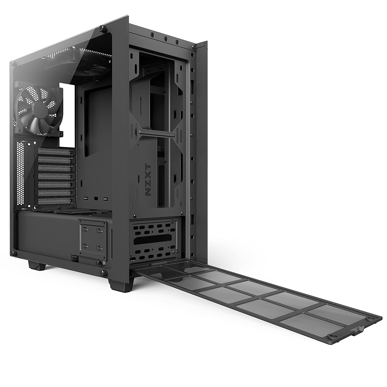 NZXT CA-S340W-B3 High Performance Gaming Case with VR Support - Black:  Amazon.co.uk: Computers & Accessories