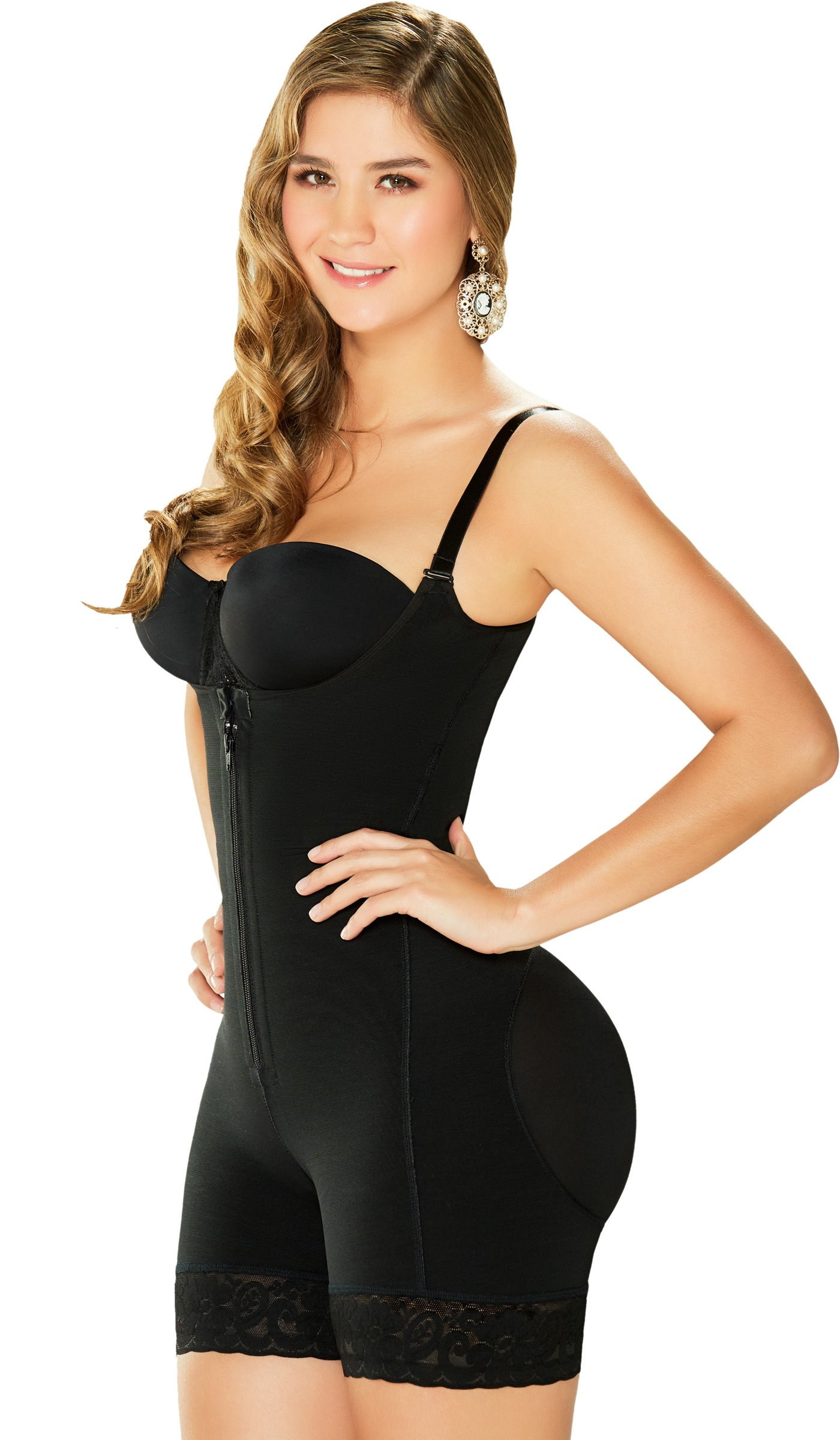 Fajas Colombianas Diane & Geordi 2396 Women's Post Partum Recovery Bodyshaper, Black, L/38 (Fits 36-39 Inch Waist)