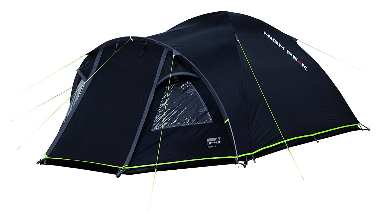 High Peak Unisex Talos 4 Tents Darkgrey Green One Size Amazonco Frame Tenda Fiber Untuk Dome Sports Outdoors