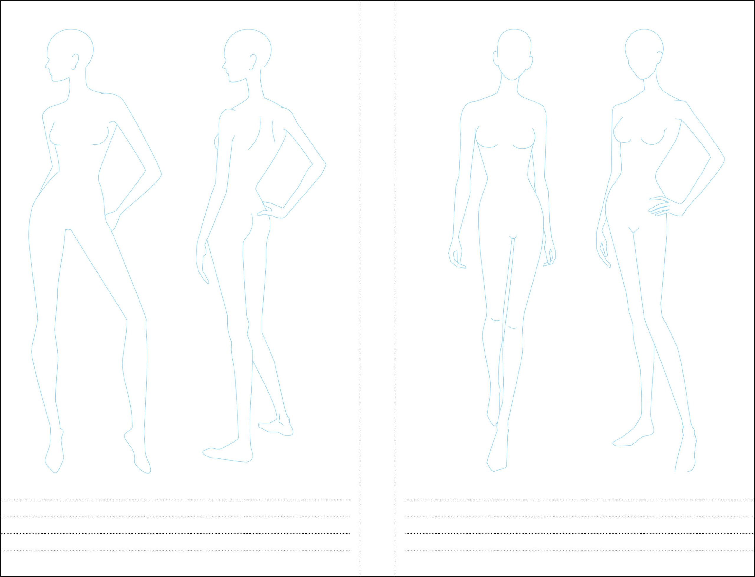Essentials Fashion Sketchbook 366 Figure Templates To Create Your