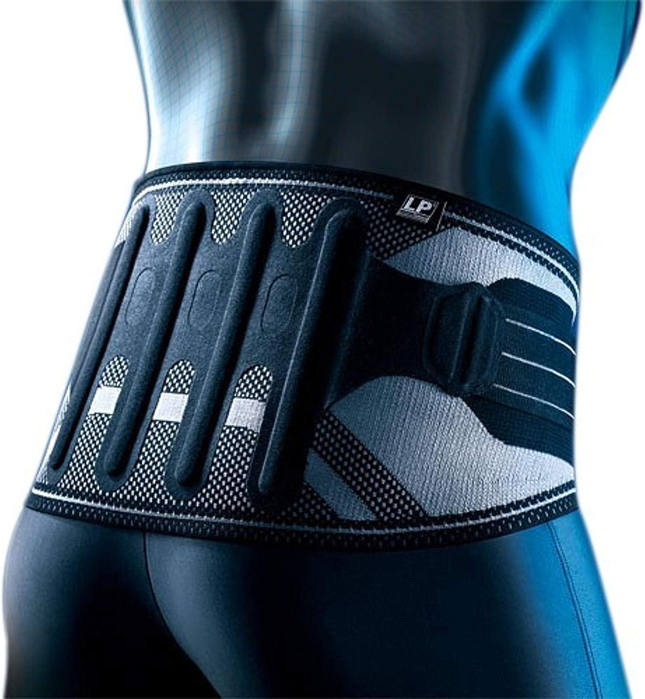 LP Support 161XT Vendaje trasero activo 2.0 con correas de tracción - protector de espalda, tamaño:XL, color:negro
