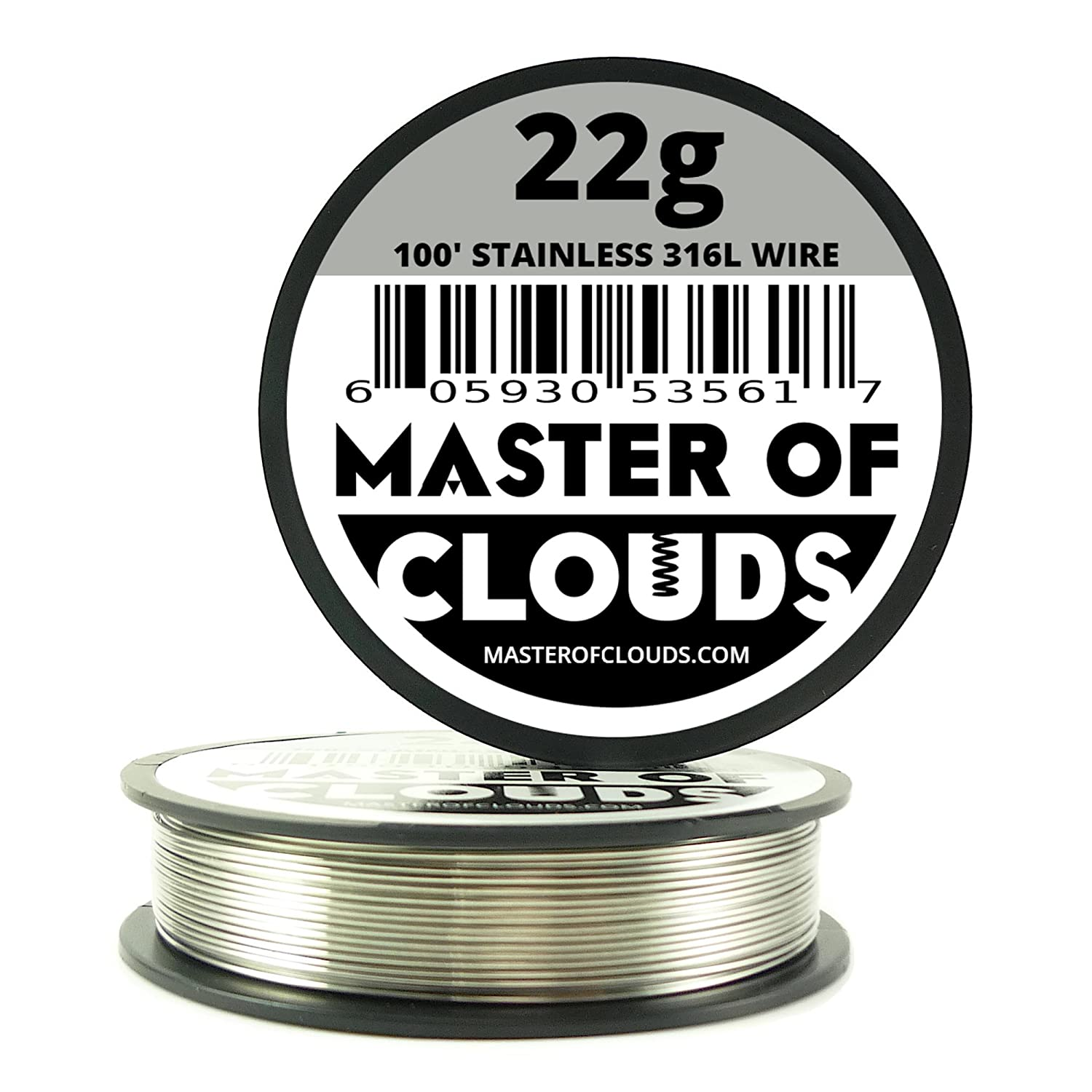 SS 316L - 100 ft. 22 Gauge AWG Stainless Steel Resistance Wire 0.64 ...
