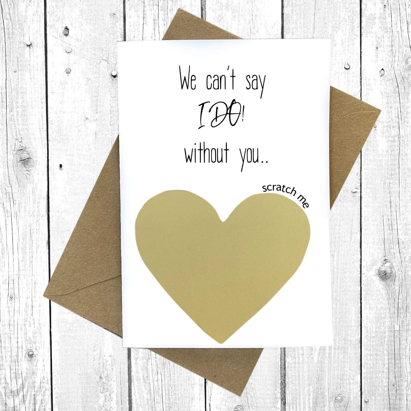 Personalized Will You Marry Us Scratch Off Card Will You Marry Us BLUSHING BRIDE Wedding Officiant Priest Rabbi Scratch off Proposal
