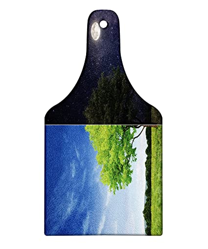 ca14bab0c4513 Amazon.com: Lunarable Nature Cutting Board, Tree of Life Divided ...