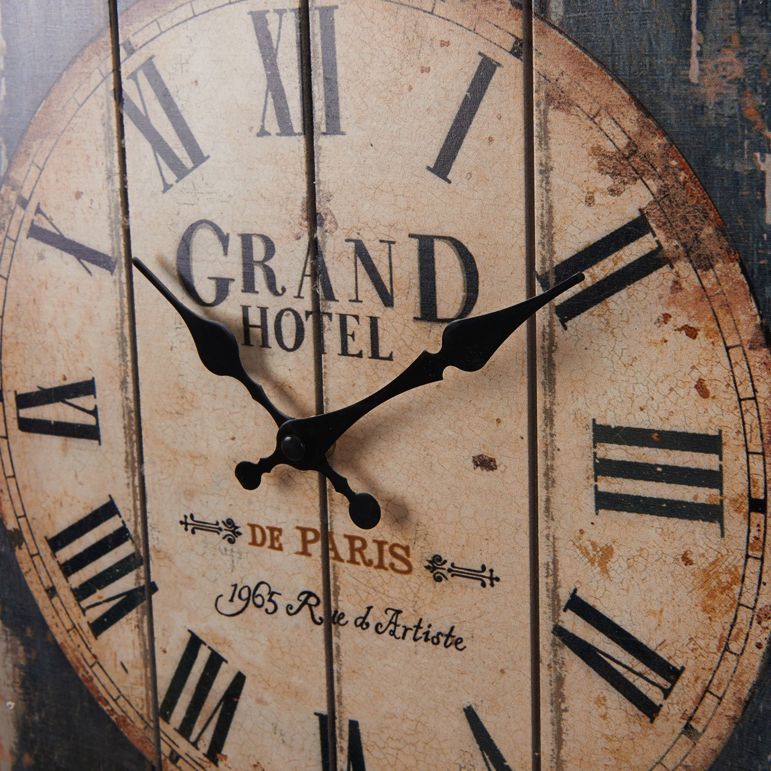LightInTheBox 15''H Country Style Brown Indoor Analog Wall Clock Home Decor Design Wall Clocks by LightInTheBox (Image #3)