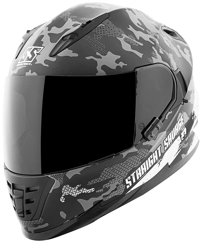 Straight Savage MEDIUM Speed /& Strength SS1600 Helmet WHITE//BLACK