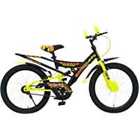 MAD MAXX BIKES Kid's Shocker 20T Steel Single Road Cycle (Neon Green,20 Inches for 7 To 10 Years Kids)