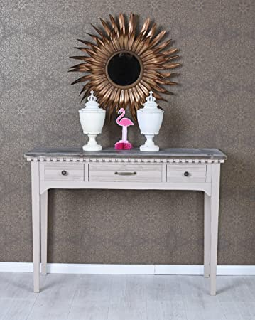 Wandtisch Tischkonsole shabby chick Konsolentisch Antikholz Konsole Schubladen