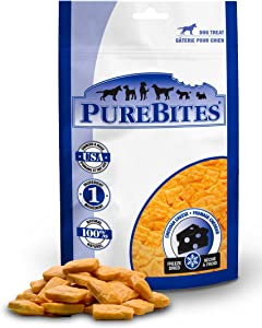 PureBites Cheddar Cheese for Dogs, 2.0oz / 57g - Entry Size