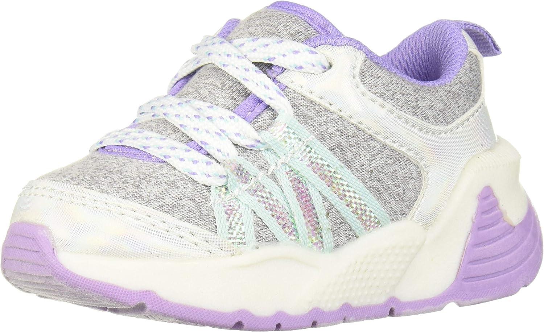 OshKosh B'Gosh Girls' SYMPSON Sneaker, Light Grey,