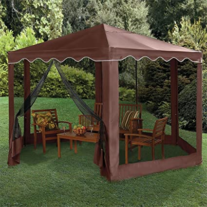 This gazebo features a 13'x13' design and has been improved from previous  models to feature a heavy-gauge tubular steel frame that has been powder  coated to ... - Gazebo Buying Guide - The 50 Best Gazebos For Your Backyard In 2017