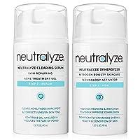 Neutralyze Acne Clearing Serum (1.5 oz) + Synergyzer (1.5 oz) | Maximum Strength Acne Treatment Gel + Anti Acne Inflammation Gel With 2% Salicylic Acid + 1% Mandelic Acid