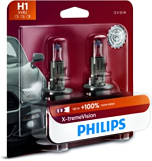 Philips H1 X-tremeVision Upgrade Headlight Bulb with up to 100% More Vision,