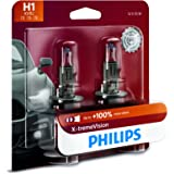 Philips Automotive Lighting H1 X-tremeVision Upgrade Headlight Bulb with up to 100% More Vision, 2 Pack (12258XVB2)