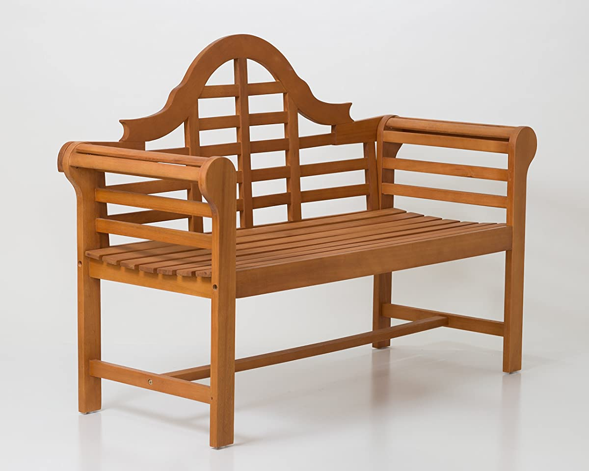 DTY Outdoor Living Broadmoor Garden Bench Eucalyptus Patio Furniture Collection