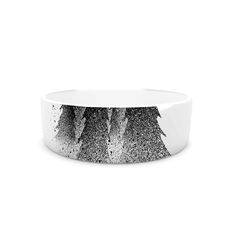 7\ KESS InHouse Barmalisirtb Secret Forest  Black White Pet Bowl, 7