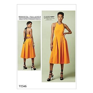 Vogue Mustern Schnittmuster eng anliegende gefüttert Neckholder ...