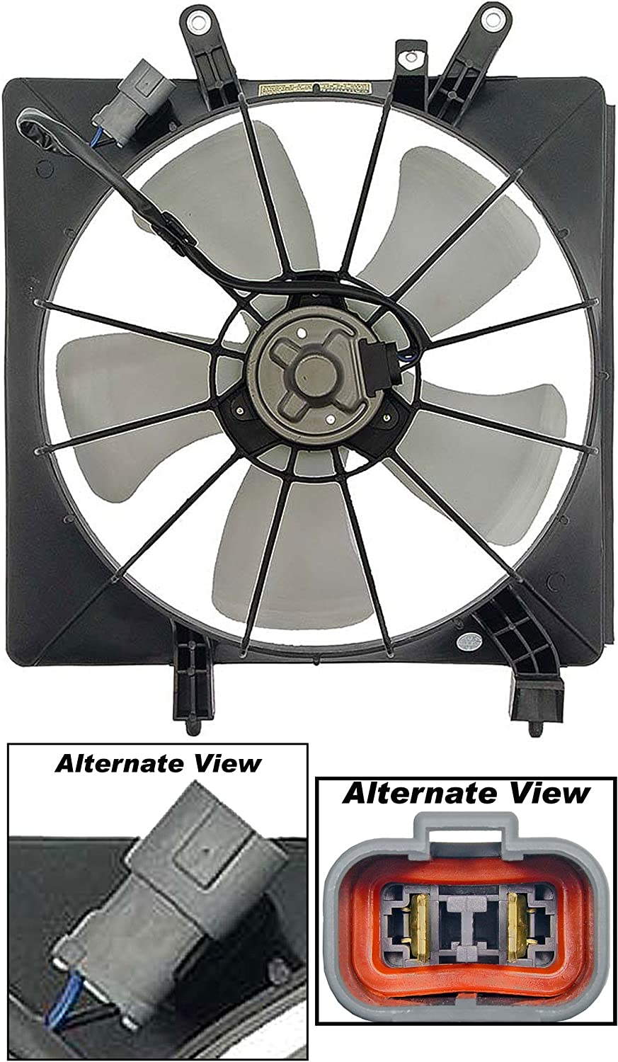 APDTY 731320 Radiator Cooling Fan Blade Motor Shroud Assembly Fits 2001-2005 Honda Civic (Replaces 19000-PLF-513, 19015PLC003, 19015-PMM-A51, 19020-PLC-003, 19030-PAA-A01)