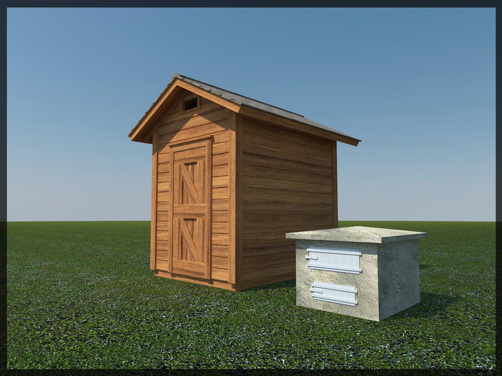 Smokehouse Plans 8' x 6' Smoker Smoke House Building Plan Build Your Own DIY by DIY Plans (Image #3)