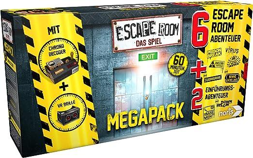 Noris 606101831 Escape Room Mega Pack - Juego de accesorios para descodificador de videojuegos (6 casos, 2 minijuegos y cronómetro), Versión alemana: Amazon.es: Juguetes y juegos