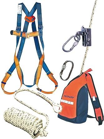 Dachdecker zeichnung  Dachdecker Set Sicherheitsgeschirr Absturzsicherung 10m Seil ...