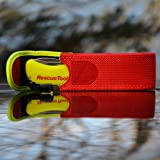 Victorinox Swiss Army Rescue Tool Pocket Knife with Pouch, Fluorescent Yellow