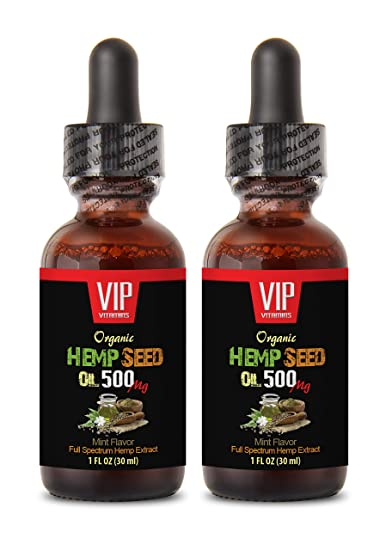 Anti Stress Supplement - Hemp Seed Oil 500 MG Organic - Hemp Oil for Pain Relief
