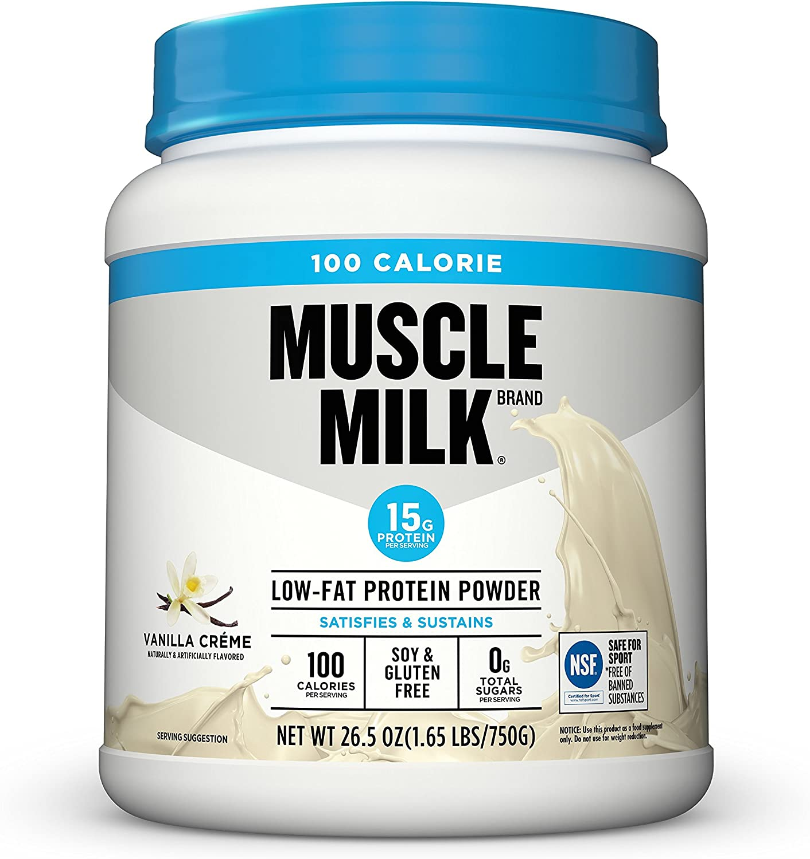 Muscle Milk 100 Calorie Protein Powder, Vanilla Cr me, 15g Protein, 1.65 Pound