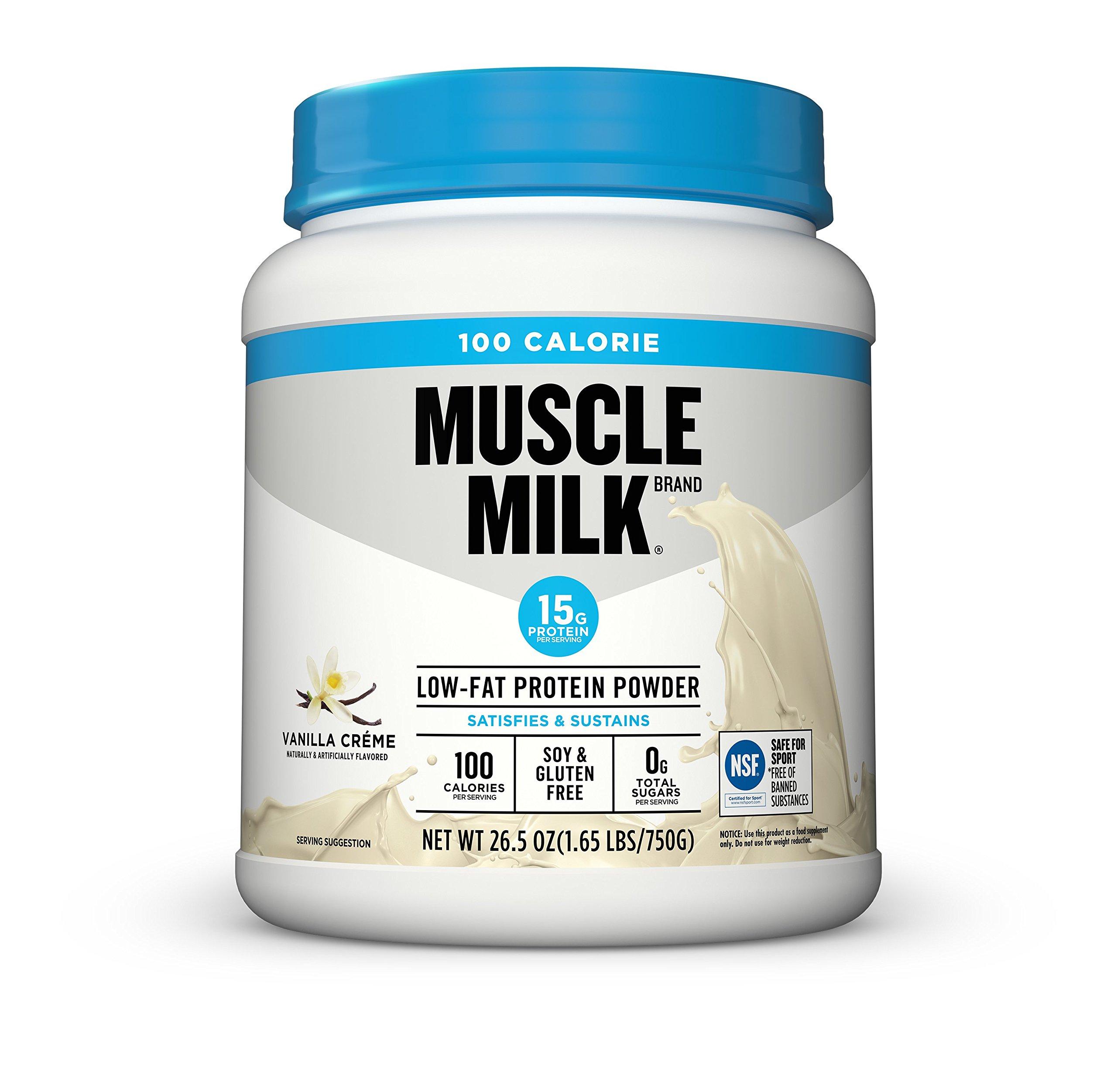 Muscle Milk 100 Calorie Protein Powder, Vanilla Crème, 15g Protein, 1.65 Pound by Cytosport