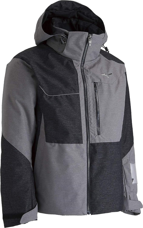 MIZUNO(ミズノ) スキーウェア ミズノスノージャケット Z2ME8352 80:ブラック*グレー Large