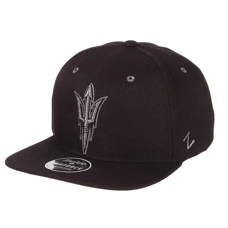 Adjustable Black Zephyr Mens Z11 Ebony Snapback Cap