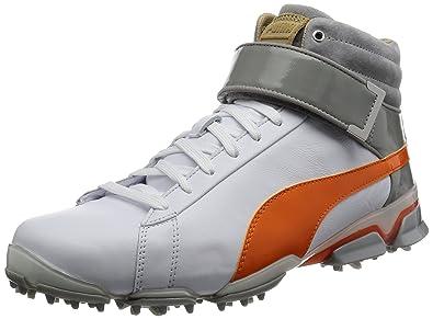 2585e386259639 Puma Titantour Ignite HI TOP SE Men Golfschuhe Golf White Orange ...